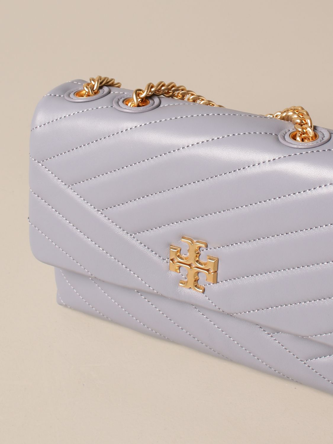 Crossbody bags Tory Burch: Kira Tory Burch bag in quilted leather dust 4