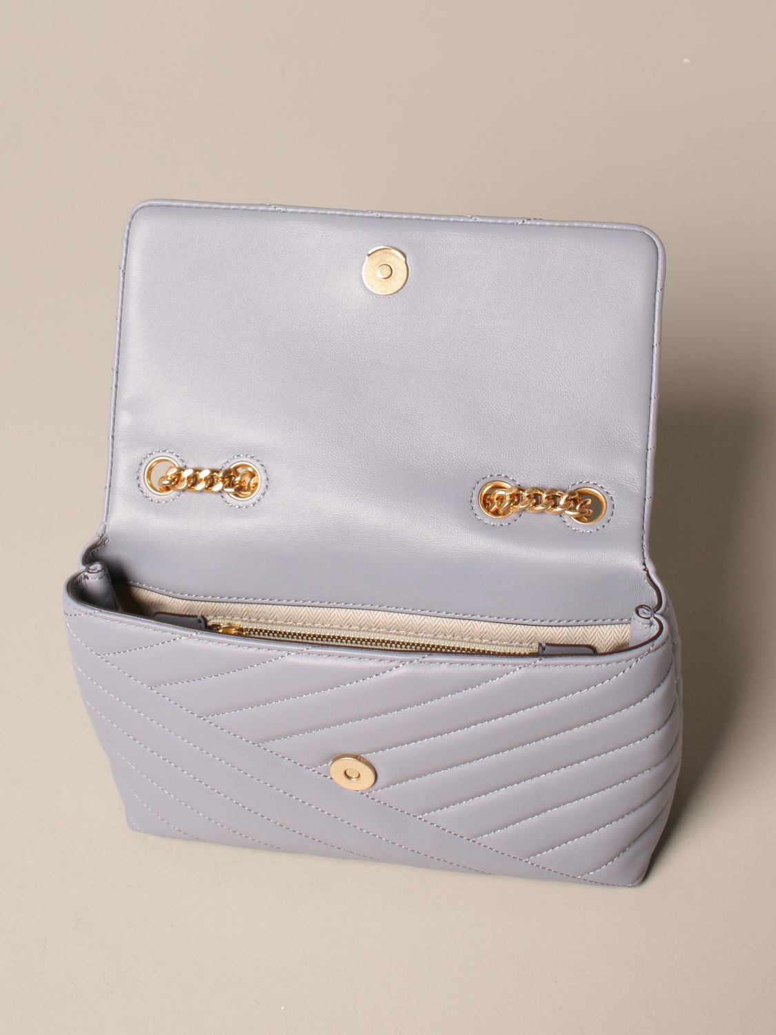 Crossbody bags Tory Burch: Kira Tory Burch bag in quilted leather dust 5
