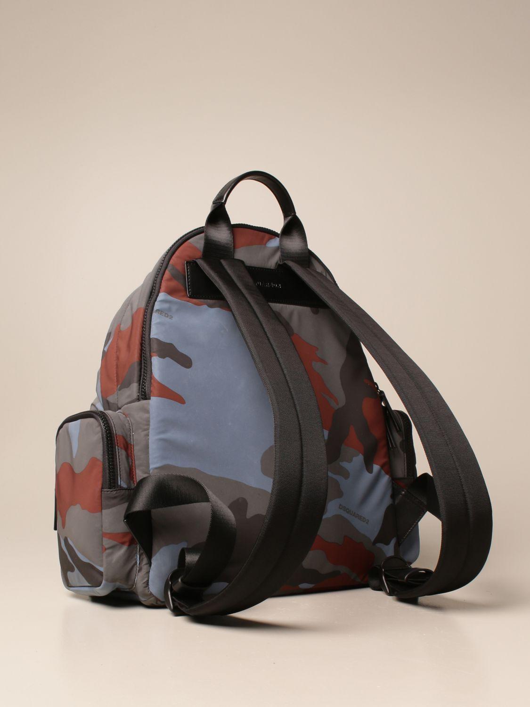 Zaino Dsquared2: Zaino Dsquared2 in nylon camouflage con logo militare 3