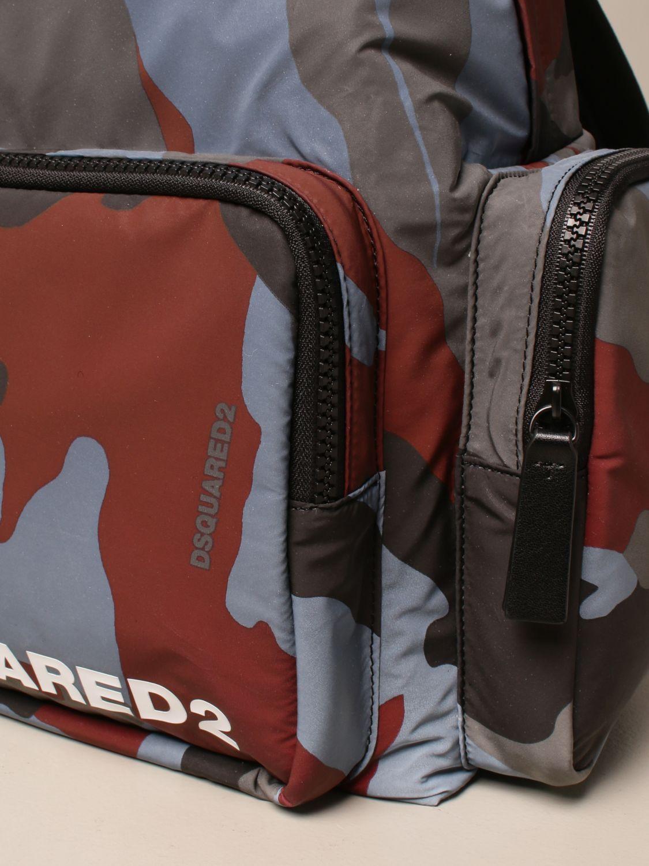 Zaino Dsquared2: Zaino Dsquared2 in nylon camouflage con logo militare 4