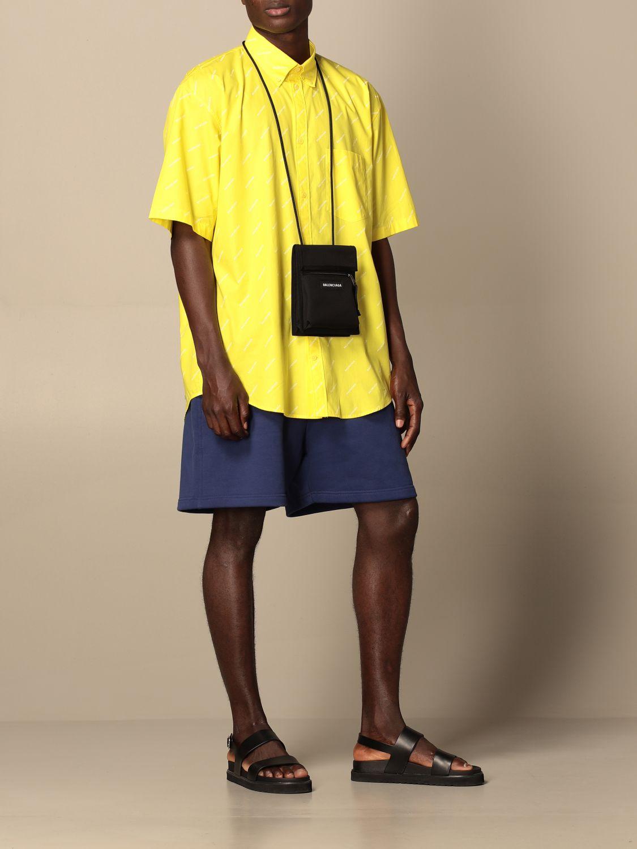 Camicia Balenciaga: Camicia Balenciaga con logo all over giallo 2