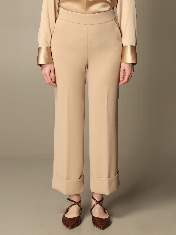 Pantalone Peserico: Pantalone classic Peserico ampio sabbia 1