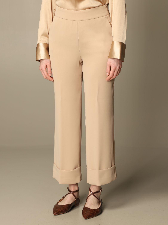 Pantalone Peserico: Pantalone classic Peserico ampio sabbia 3
