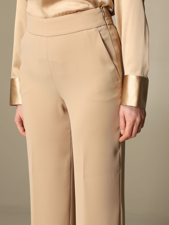Pantalone Peserico: Pantalone classic Peserico ampio sabbia 4