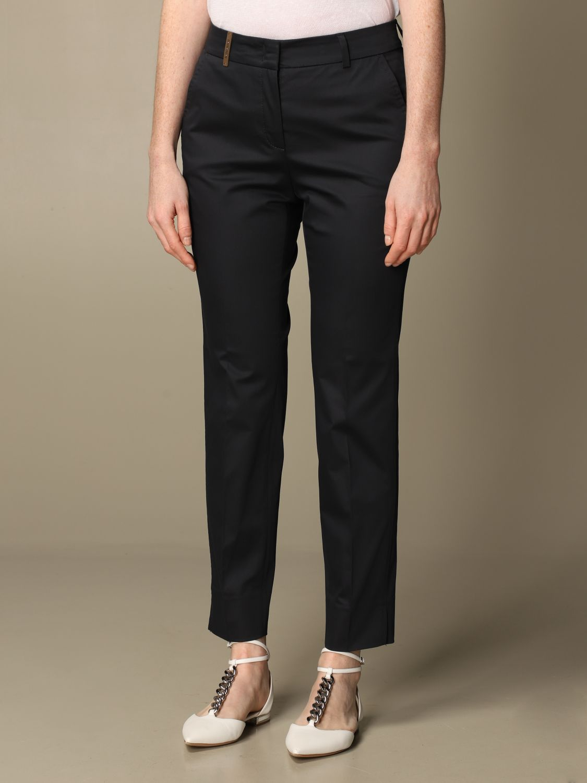 Pantalone Peserico: Pantalone slim Peserico in cotone blue 3