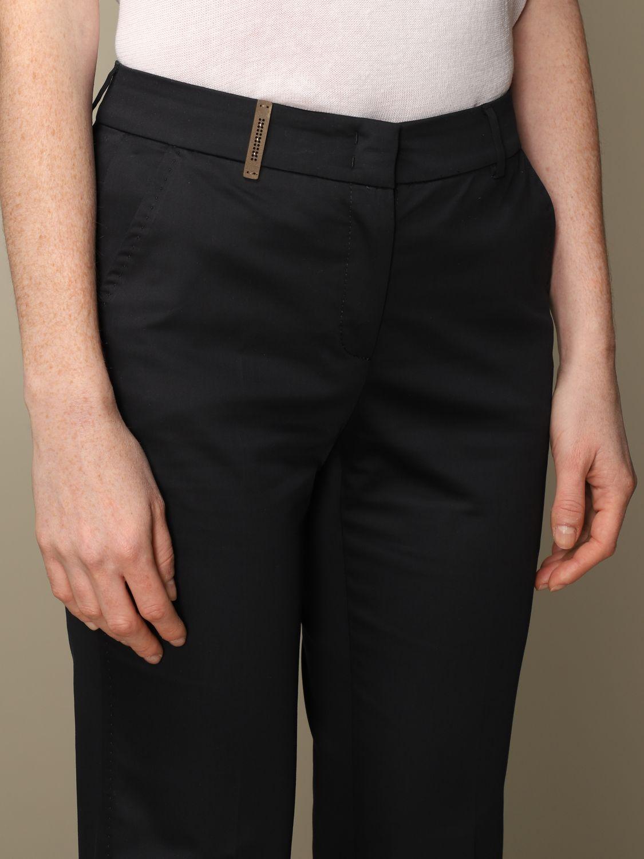 Pantalone Peserico: Pantalone slim Peserico in cotone blue 4