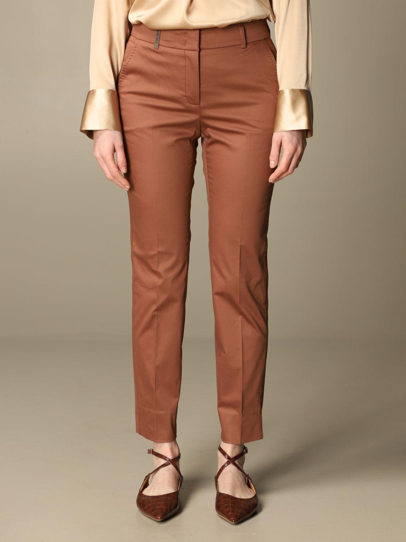Pantalone Peserico: Pantalone slim Peserico in cotone ruggine 1