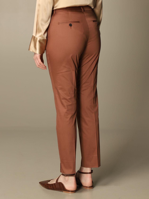 Pantalone Peserico: Pantalone slim Peserico in cotone ruggine 2