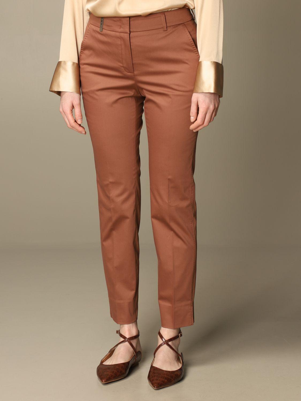 Pantalone Peserico: Pantalone slim Peserico in cotone ruggine 3