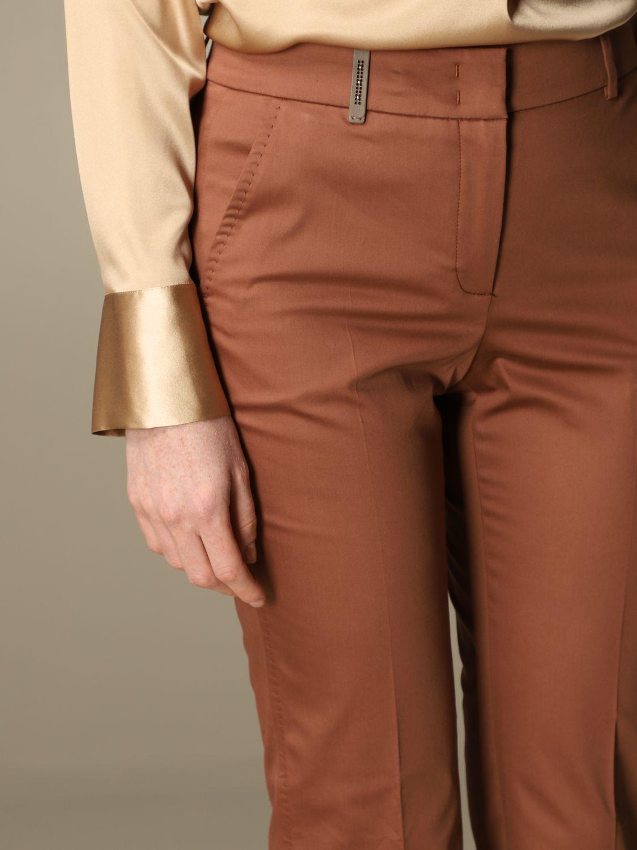 Pantalone Peserico: Pantalone slim Peserico in cotone ruggine 4