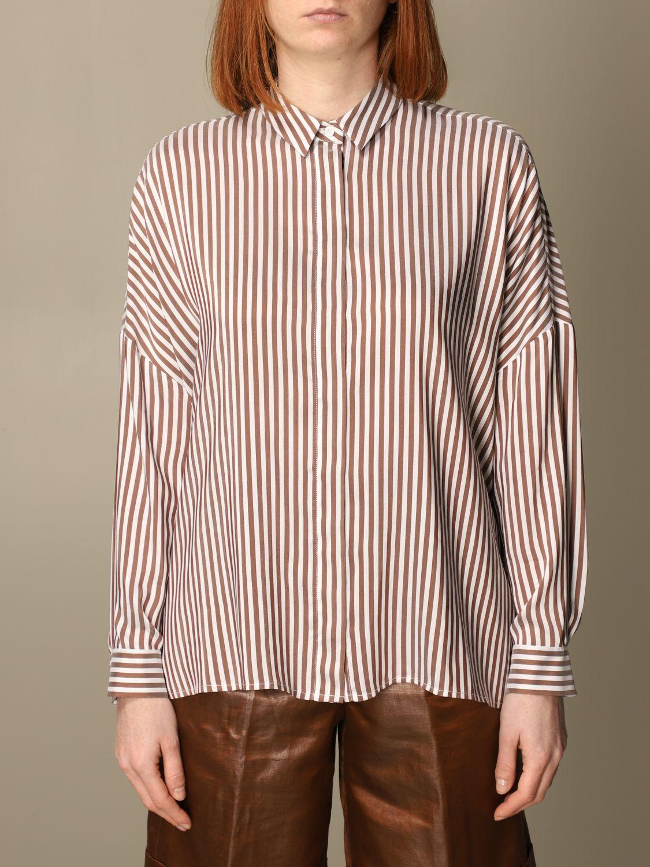 Camicia Peserico: Camicia Peserico in viscosa e seta a righe rigato 1
