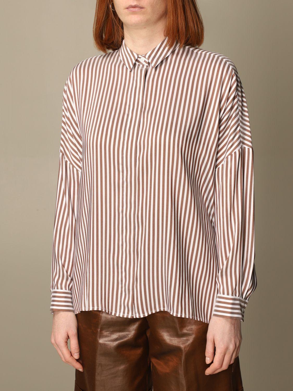 Camicia Peserico: Camicia Peserico in viscosa e seta a righe rigato 3