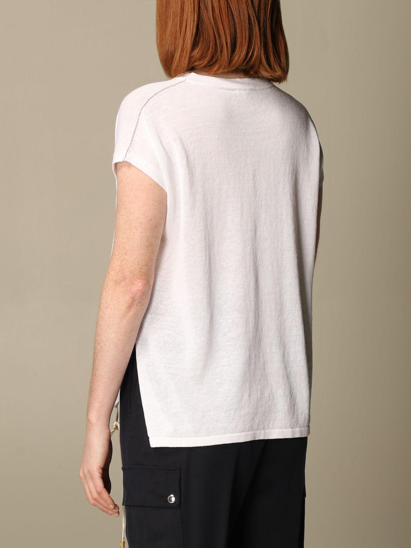 Maglia Peserico: Maglia Peserico in lino e cotone bianco 2