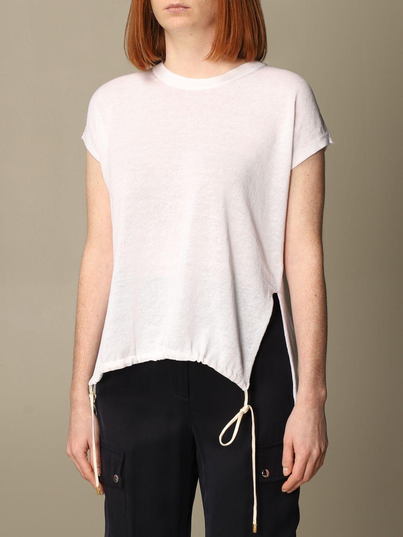 Maglia Peserico: Maglia Peserico in lino e cotone bianco 3