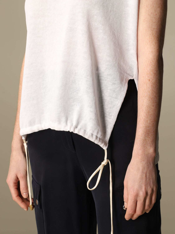 Maglia Peserico: Maglia Peserico in lino e cotone bianco 4