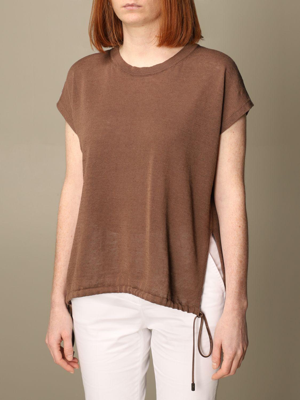 Maglia Peserico: Maglia Peserico in lino e cotone marrone 3