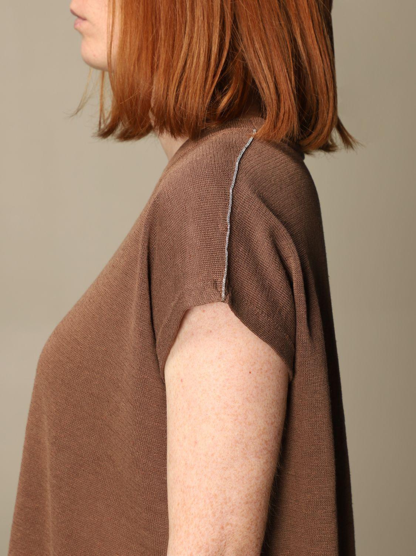 Maglia Peserico: Maglia Peserico in lino e cotone marrone 4