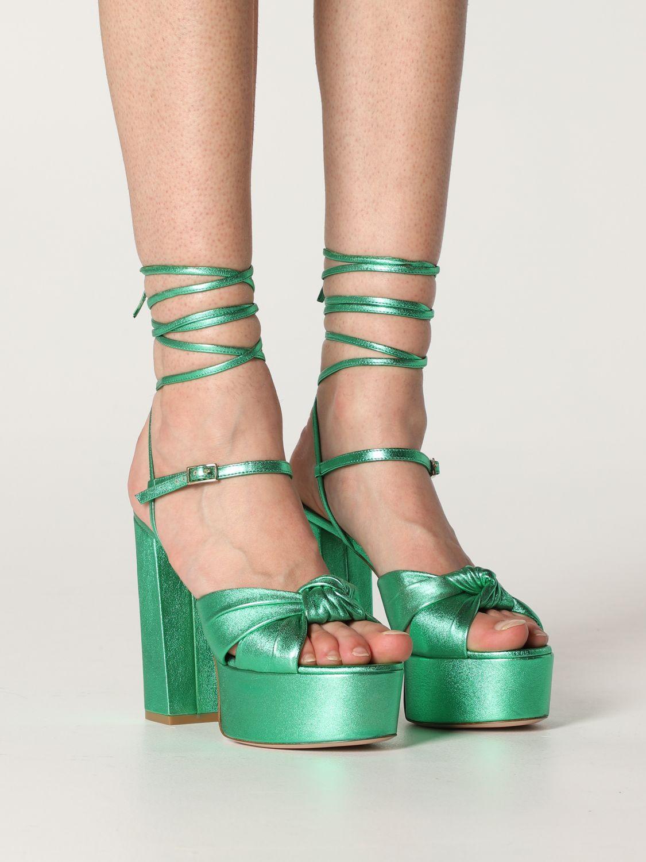 Heeled sandals Aldo Castagna: Shoes women Aldo Castagna green 2