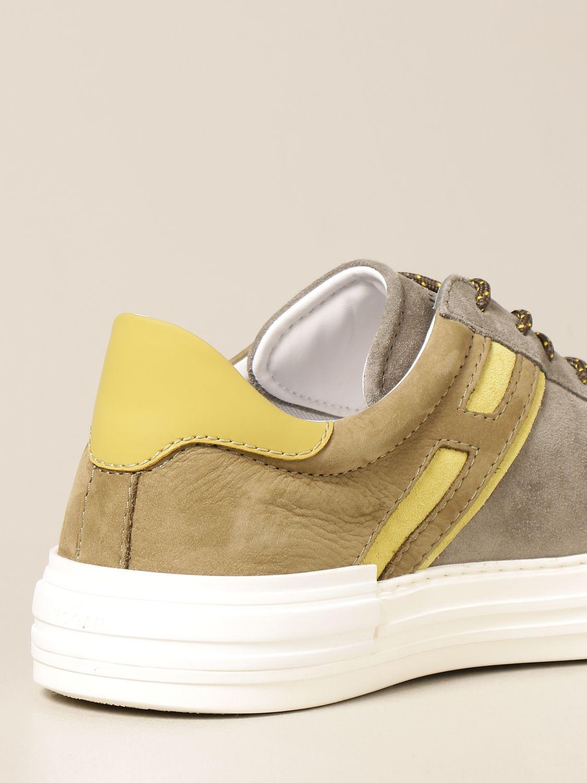 Sneakers Hogan: Sneakers Rebel Hogan in camoscio e pelle verde 3