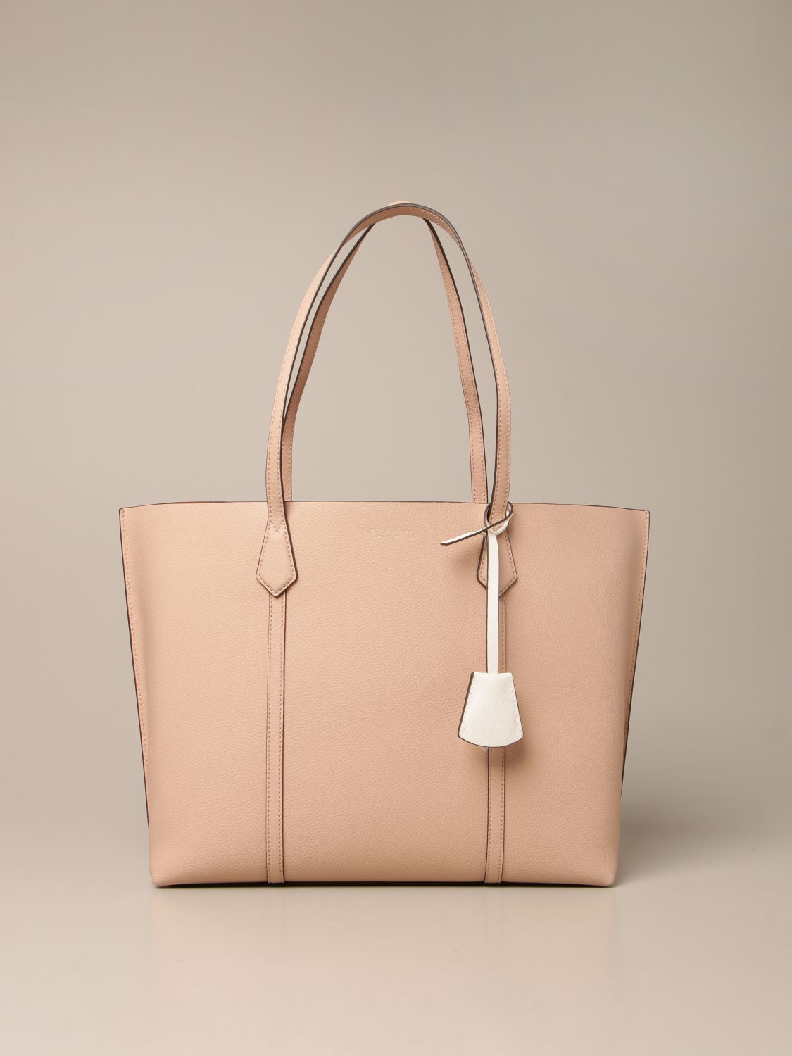 Handbag Tory Burch: Perry Tory Burch bag in textured leather pink 1
