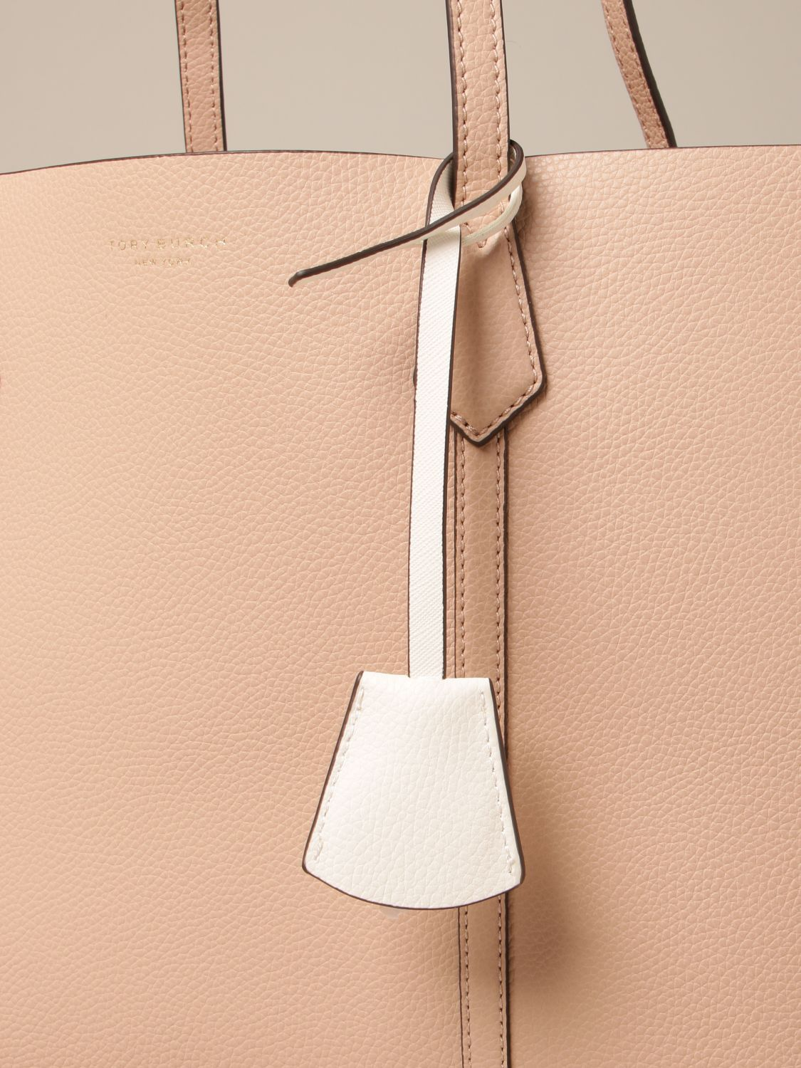 Handbag Tory Burch: Perry Tory Burch bag in textured leather pink 3