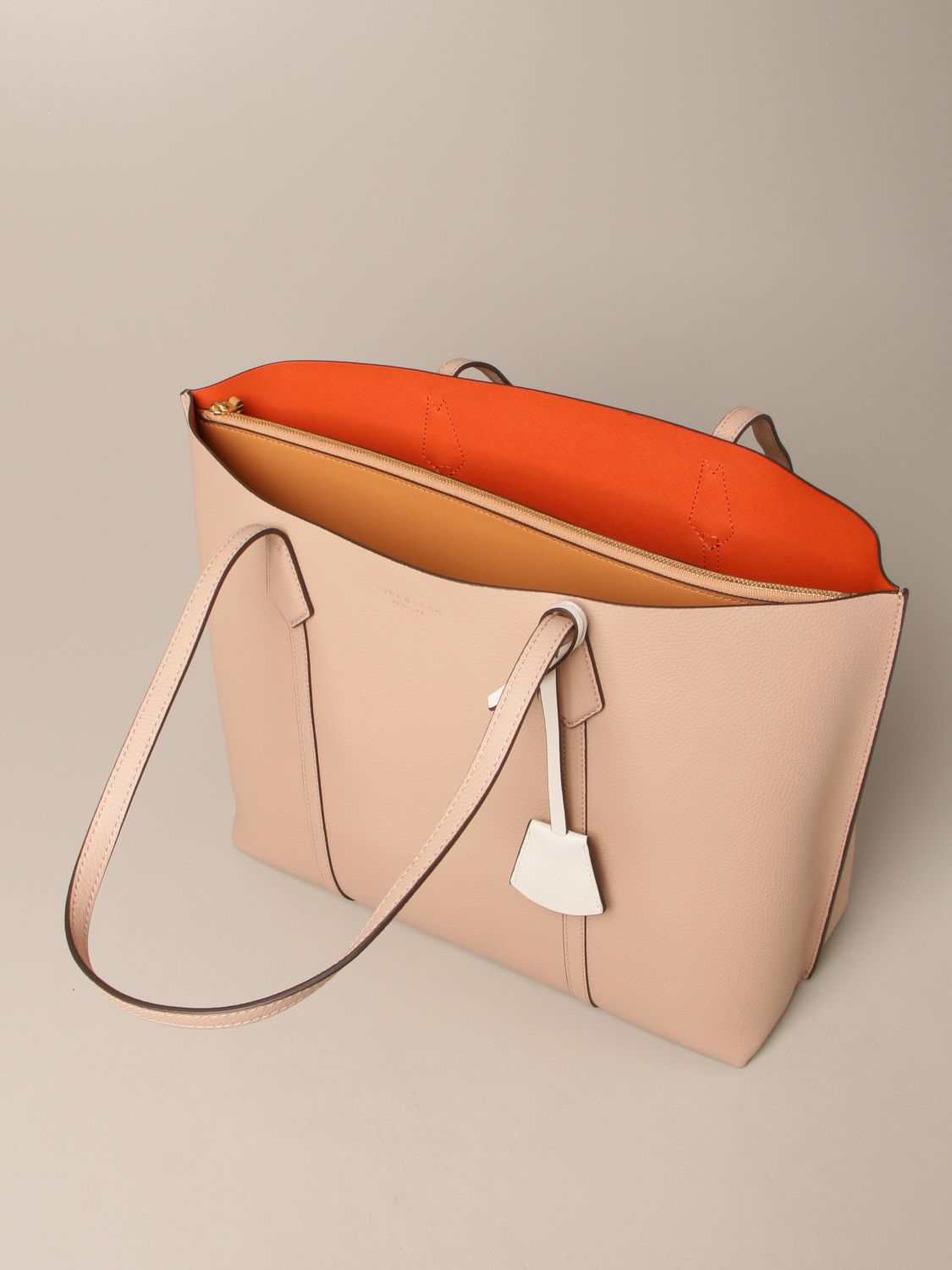 Handbag Tory Burch: Perry Tory Burch bag in textured leather pink 4