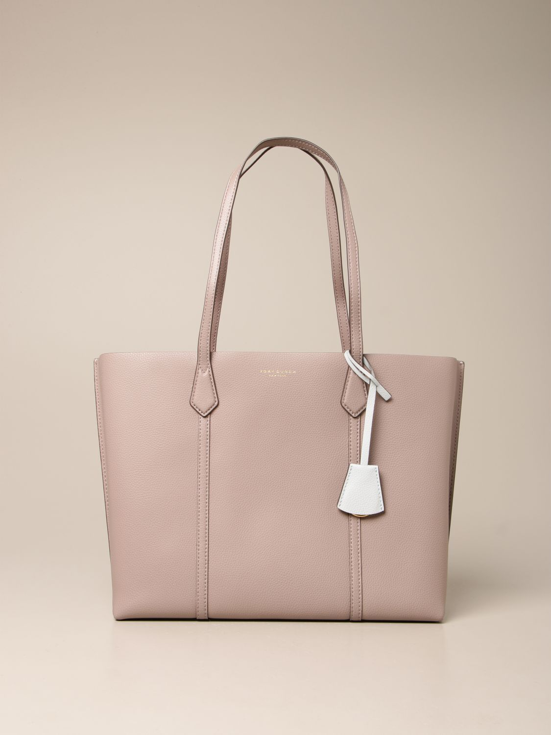Handbag Tory Burch: Perry Tory Burch bag in textured leather grey 1