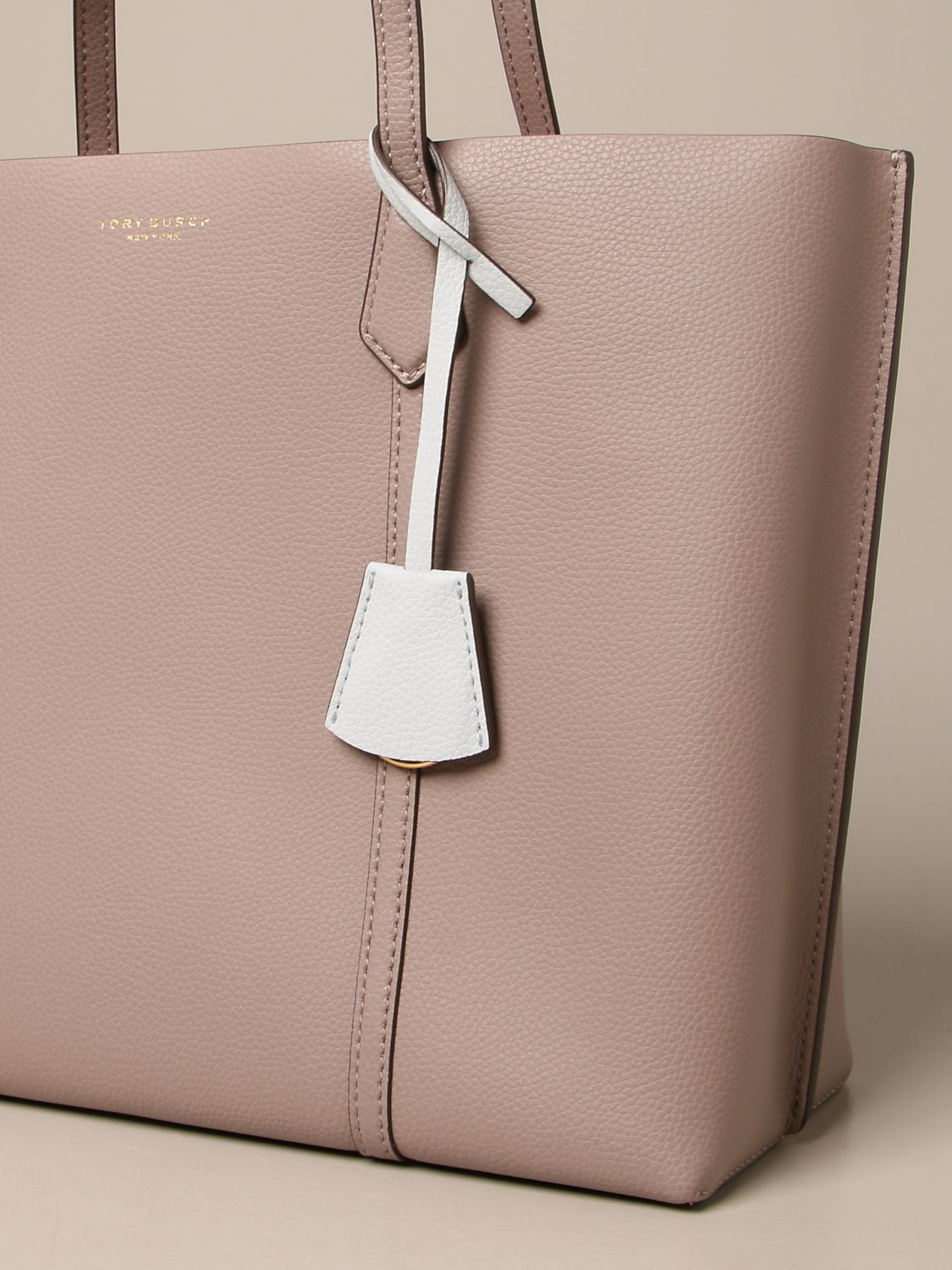 Handbag Tory Burch: Perry Tory Burch bag in textured leather grey 3