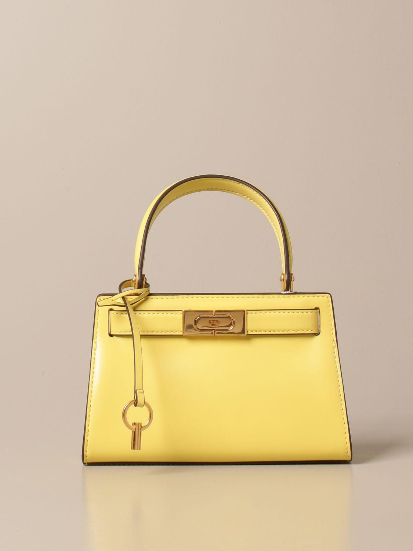 Mini bag Tory Burch: Lee Tory Burch bag in smooth leather yellow 1