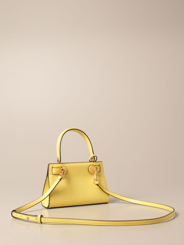 Mini bag Tory Burch: Lee Tory Burch bag in smooth leather yellow 3