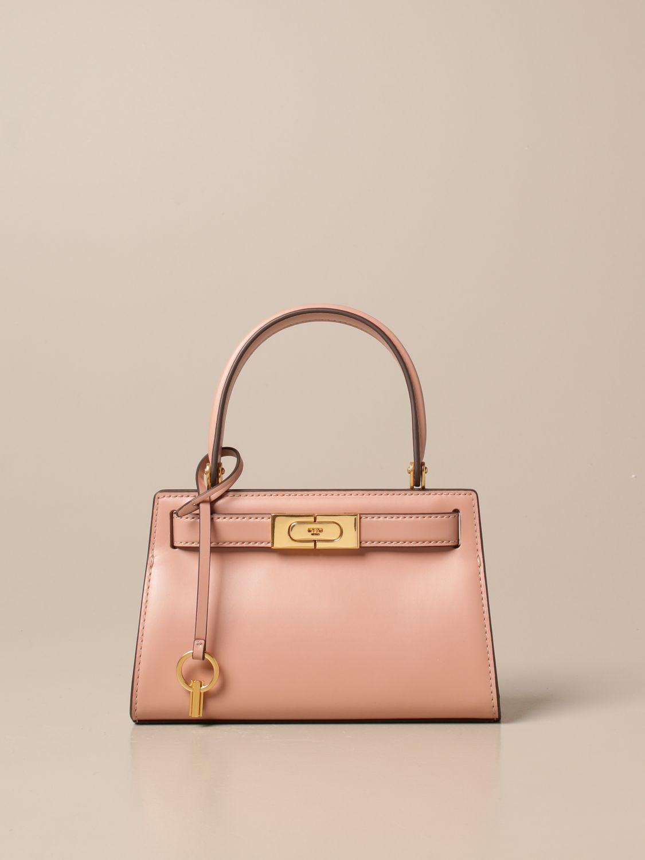 Mini bag Tory Burch: Lee Tory Burch bag in smooth leather fuchsia 1