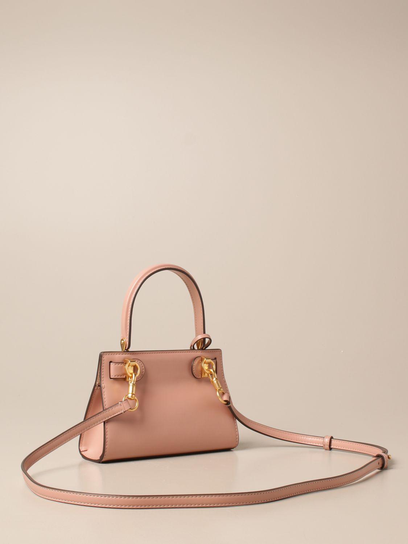 Mini bag Tory Burch: Lee Tory Burch bag in smooth leather fuchsia 3