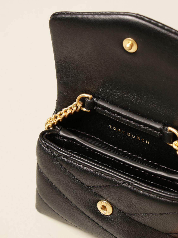 Mini bag Tory Burch: Kira nano Tory Burch bag in quilted leather black 3