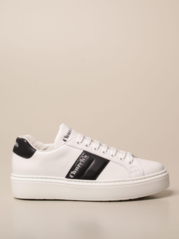 Sneakers Church's: Sneakers Church's in pelle con bande a contrasto bianco 1