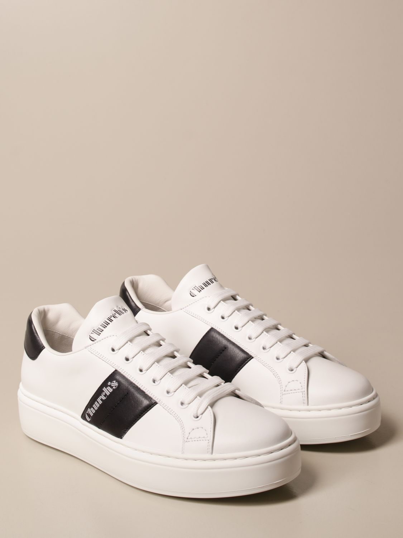 Sneakers Church's: Sneakers Church's in pelle con bande a contrasto bianco 2