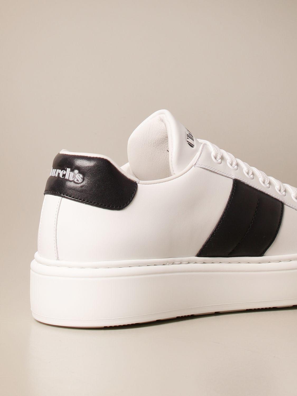 Sneakers Church's: Sneakers Church's in pelle con bande a contrasto bianco 3