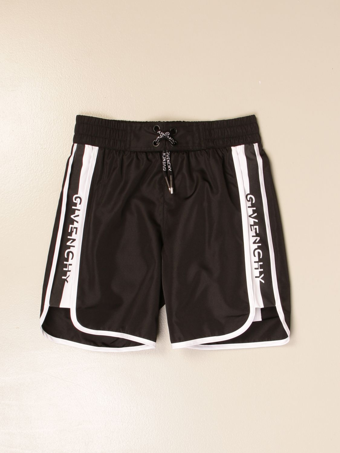 Swimsuit Givenchy: Givenchy boxer swimsuit with logoed bands black 1