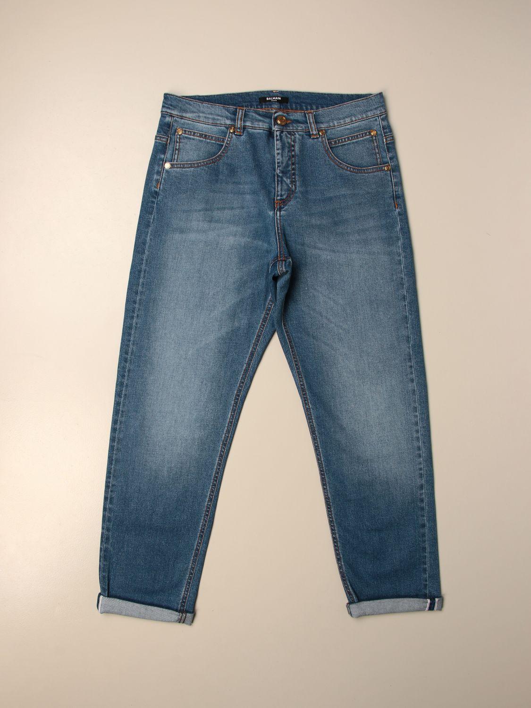 Vaquero Balmain: Pantalón niños Balmain azul oscuro 1