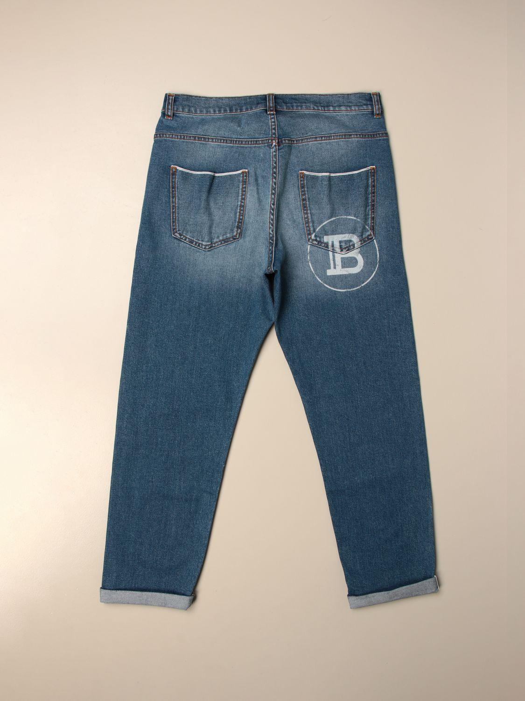 Vaquero Balmain: Pantalón niños Balmain azul oscuro 2