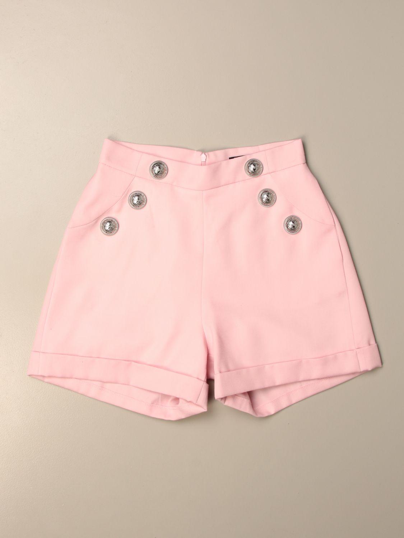 Pantalón Balmain: Pantalón niños Balmain rosa 1