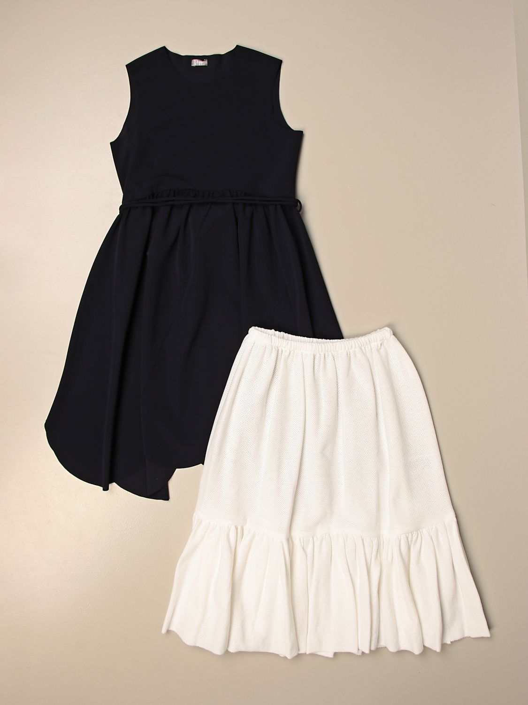 Kleid Il Gufo: Kleid kinder Il Gufo blau 3