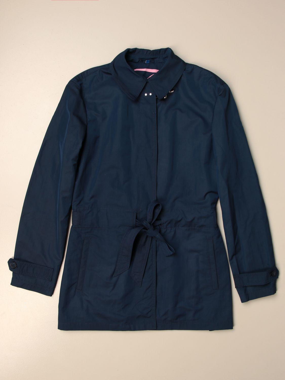 Coat Fay: Fay coat in waterproof cotton blue 1