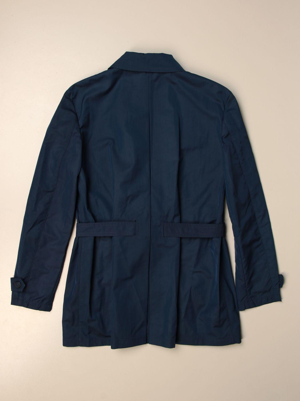 Coat Fay: Fay coat in waterproof cotton blue 2