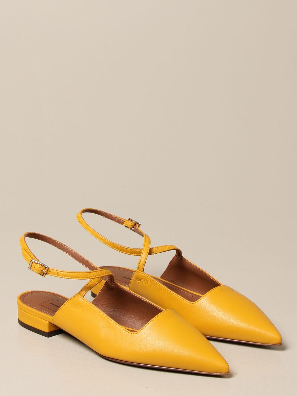 Ballerinas L'autre Chose: Ballerinas damen L'autre Chose mustard 2