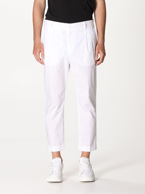 Pantalone Daniele Alessandrini: Pantalone Daniele Alessandrini con tasche a filo bianco 1