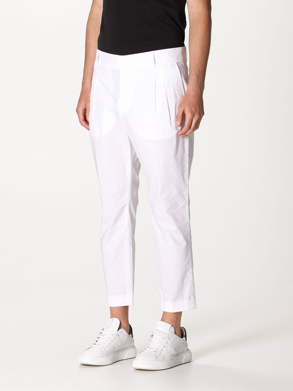 Pantalone Daniele Alessandrini: Pantalone Daniele Alessandrini con tasche a filo bianco 3