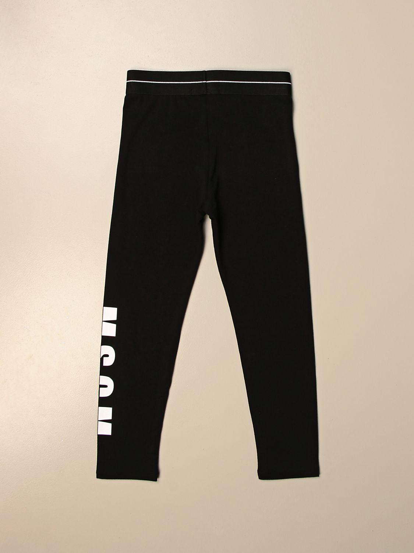 Pantalone Msgm Kids: Leggings Msgm Kids stretch con logo nero 2