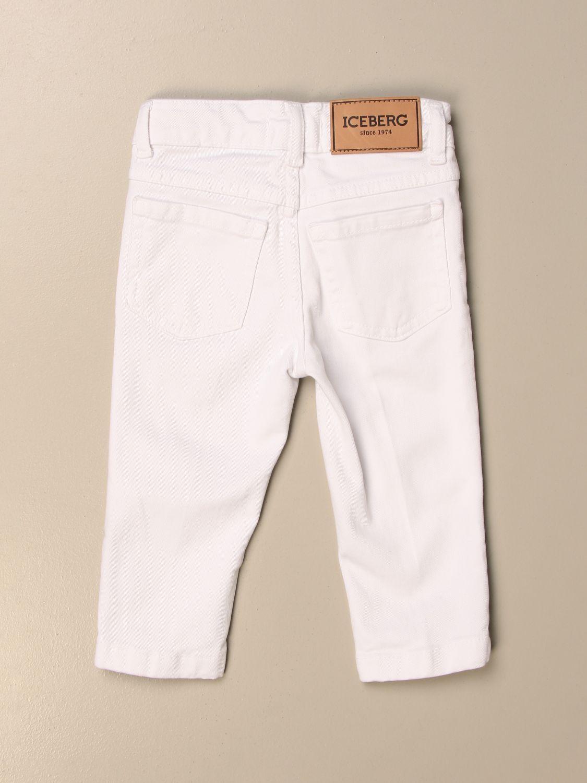 Jeans Iceberg: Pantalone a 5 tasche Iceberg con stampa Silvestro bianco 2
