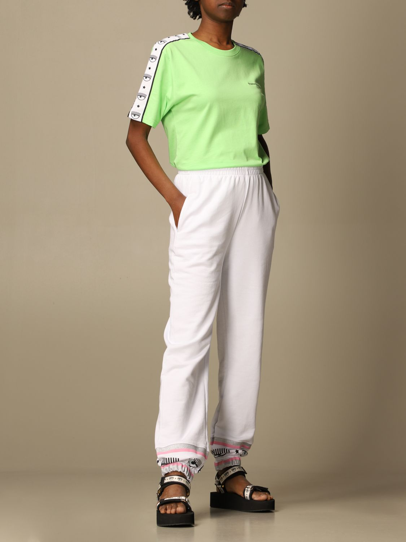 Pantalone Chiara Ferragni: Pantalone jogging Chiara Ferragni basic bianco 2