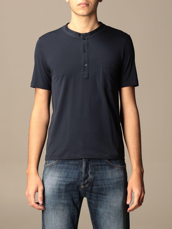 Camiseta Cruciani: Camiseta hombre Cruciani azul oscuro 1